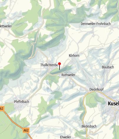 Kaart / Bushaltestelle Burg Lichtenberg / Thallichtenberg