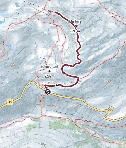 Map / Alpenkranz 25. Etappe: Tiefenbach - Albert-Heim-Hütte