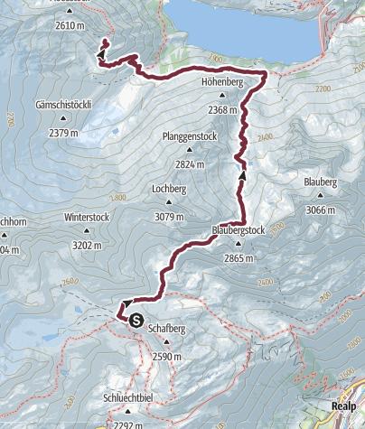 Map / Alpenkranz 26. Etappe: Albert-Heim-Hütte - Dammahütte