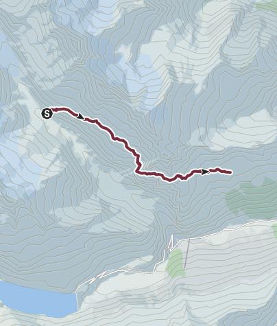 Map / Alpenkranz 30. Etappe: Voralphütte - Salbithütte