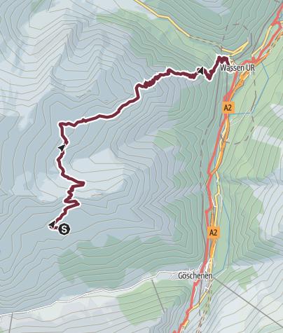 Map / Alpenkranz 31. Etappe: Salbithütte - Sustenpass