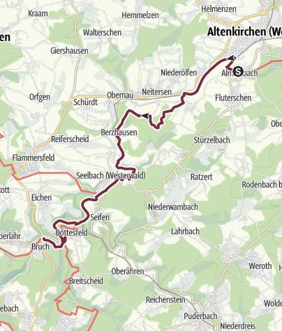 Karte / Wiedweg 03. Etappe Altenkirchen - Oberlahr