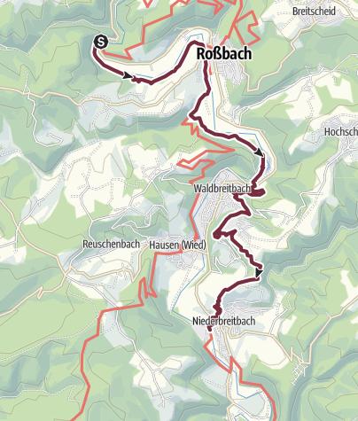 Karte / Wiedweg 06. Etappe Arnsau - Waldbreitbach