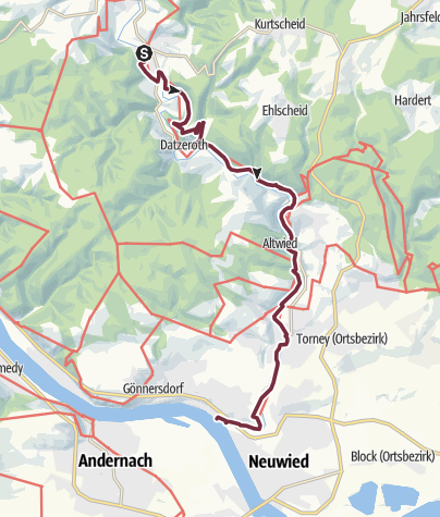 Karte / Wiedweg 07. Etappe Waldbreitbach - Datzeroth