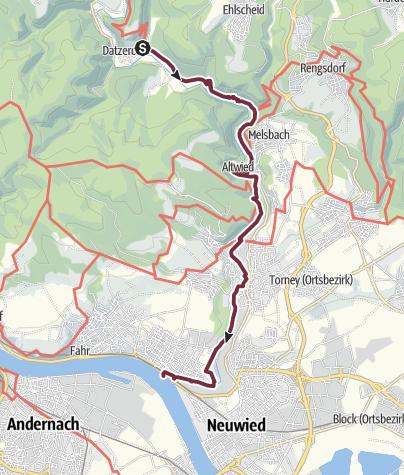 Karte / Wiedweg 08. Etappe Datzeroth - Neuwied