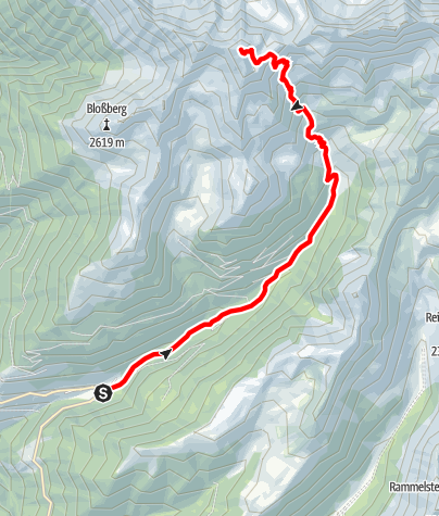 Mapa / Bergtour auf die Große Windschar