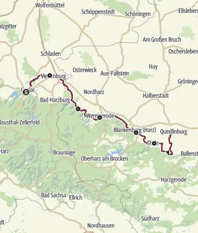 Karte / Harzer Klosterwanderweg