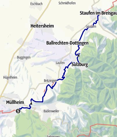 Karte / Markgräfler Wiiwegli - 4. Etappe