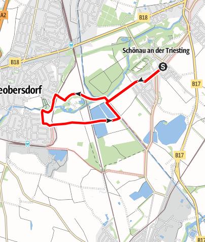 Karte / Dornauerrunde von Schönau