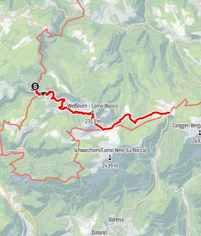 Kaart / Dolomites UNESCO Geotrail – 1. Etappe: vom Bletterbach zum Lavazèjoch- Vom Land zum Meer