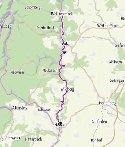 Karte / Durch das Mittlere Nagoldtal