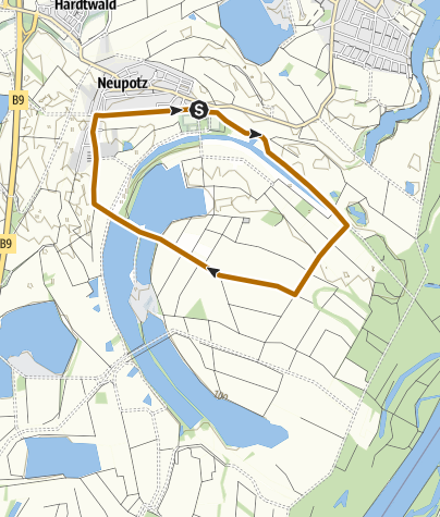 Kaart / Neupotz - Nordic Walking Tour 3