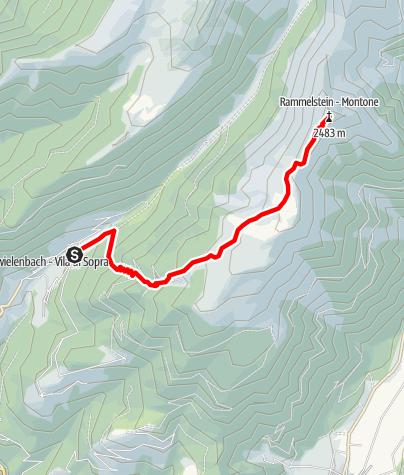 Mapa / Bergtour auf den Rammelstein