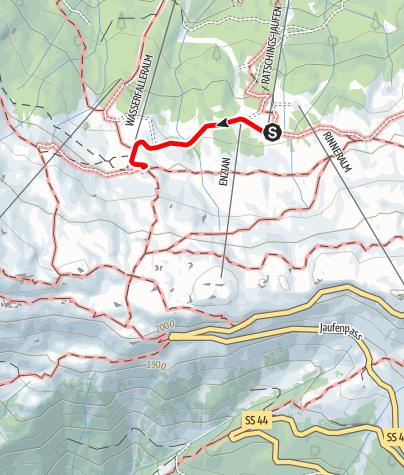 Mappa / Escursione alla malga Wasserfalleralm