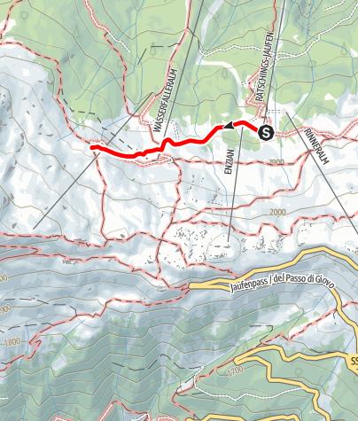 Mapa / Wanderung zur Saxnerhütte