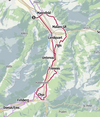 Karte / Kulinarik-Tour 5-Dörfer (E-Bike)