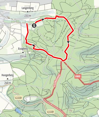 Karte / EP3 - Rund um den Ottilienberg kleine Runde