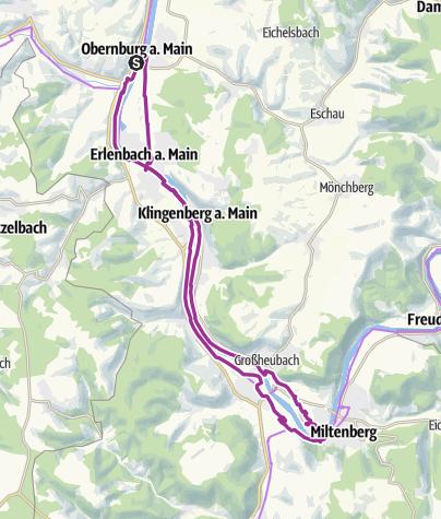 Karte / Obernburger Stern - Main-Wein-Genuss-Route