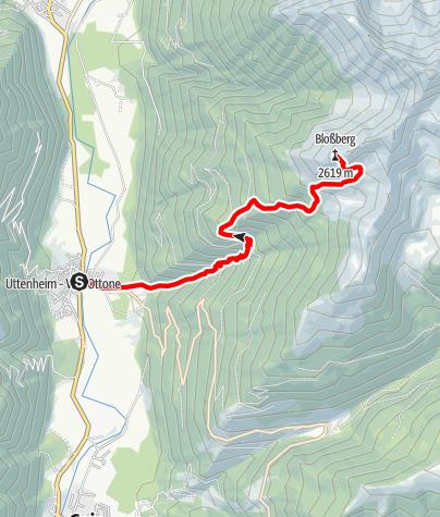 Mappa / Tour alpino al monte Bloßberg presso Villa Ottone