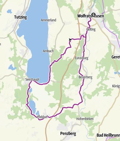 Karte / Genuss-Radtour zu den Osterseen