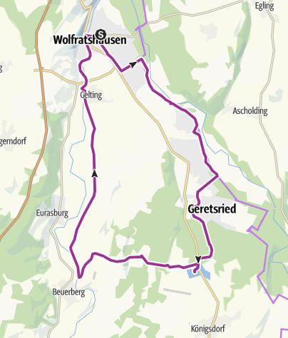 Karte / Genuss-Radtour zum Bibisee