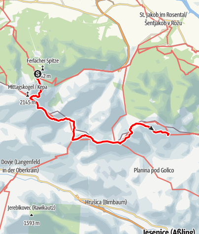 Karte / Etappe 04 NEU - Panoramaweg Südalpen: Bertahütte - Rosenkogel - Kahlkogelhütte