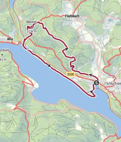 Kaart / Bus to Seebrugg Staumauer, Walk the Jäger Trail