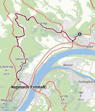 Karte / Auf Entdeckertour zwischen Kismaros und Nagymaros