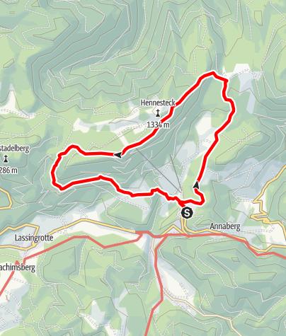 Karte / Herzerlweg Annaberg