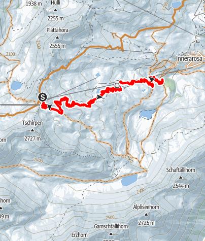 Map / Freeride: Hörnli Trail