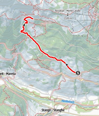 Mappa / Escursione alla Ochsenalm