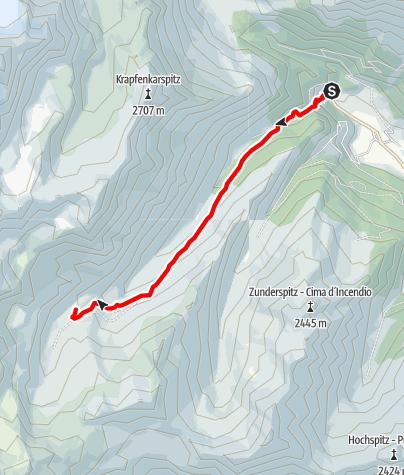 Kaart / Wanderung zur Moarerbergalm