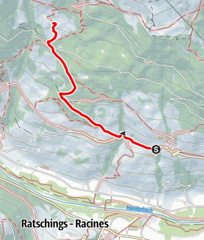 Mappa / Escursione alla Malga Freundalm