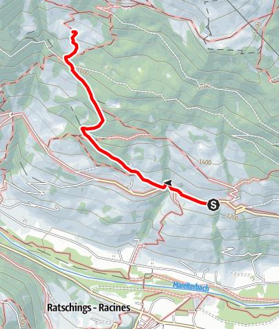 Mapa / Wanderung zur Freundalm