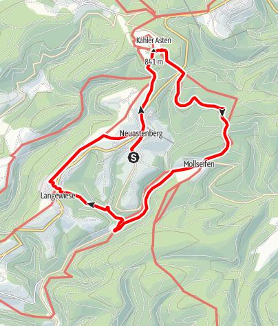 Karte / Kahler Asten und Odeborn - Über Grenzen gehen, Start in Winterberg-Neuastenberg