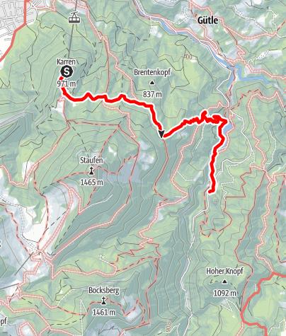 Karte / Dornbirn - Wanderung durchs Alploch