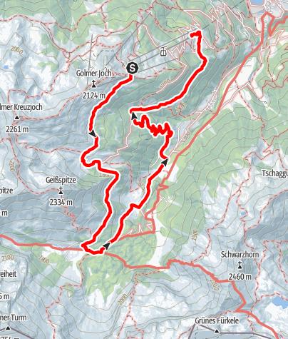 Karte / Gauertaler AlpkulTour - Kulturlandschaft auf anderen Wegen erleben