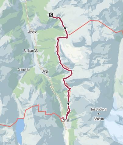 Carte / Tour du Val d'Anniviers : la Rando des cinq 4000 (étape 2)