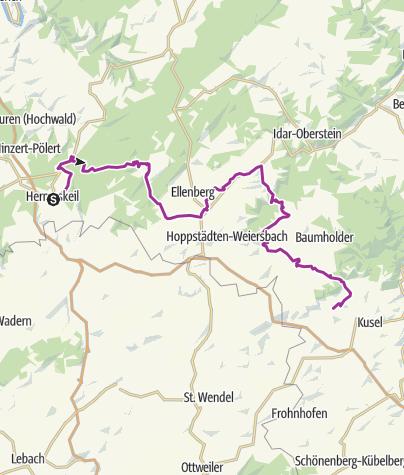 Map / Rheinland-Pfalz Radroute - Etappe Hermeskeil - Birkenfeld - Burg Thallichtenberg