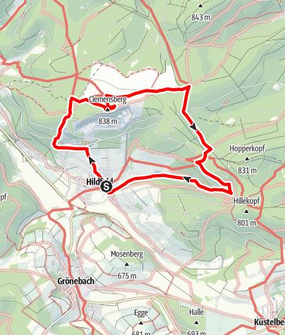 Map / Extratour Hildfeld - Durch Hochwald und Heide, Start in Winterberg-Hildfeld