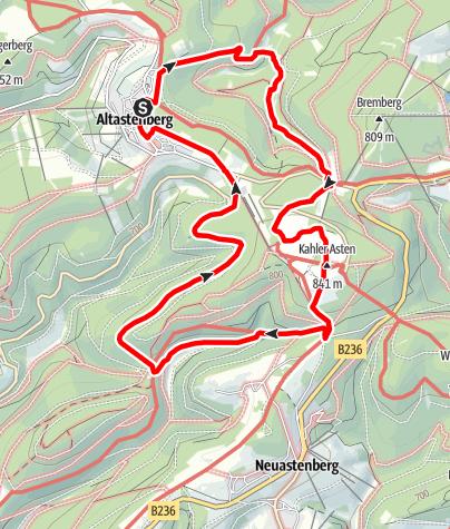 Karte / Tief hinab & hoch hinaus... Was(s) erleben an Lenne und Renau, Start in Winterberg-Altastenberg