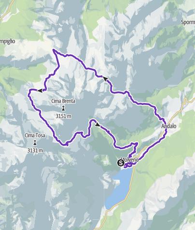 Cartina / Dolomiti di Brenta Trail - percorso corto