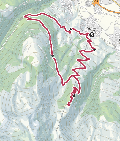 Karte / E-Bike Beizen-Trophy - Ziel Berghotel Alpina oder Furt am Pizol