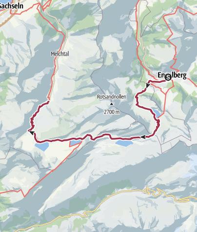 Karte / 4-Seen Wanderung