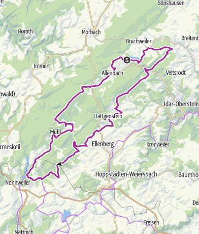 Karte / Nationalpark-Radrundroute