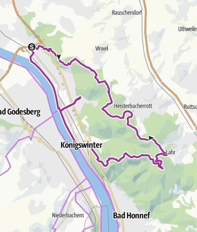 Karte / GA-Siebengebirgstour