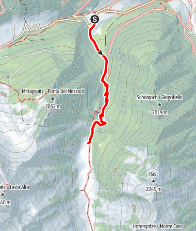 Mappa / Escursione alla malga Moarerbergalm