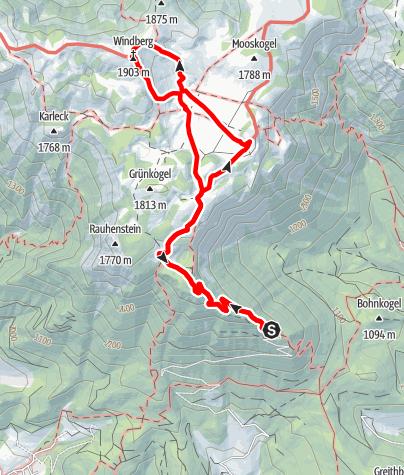 Karte / Familienrundwanderweg auf der Schneealm im Naturpark Mürzer Oberland
