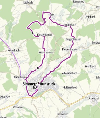 Map / Radweg Römer Ritter Klosterfrauen