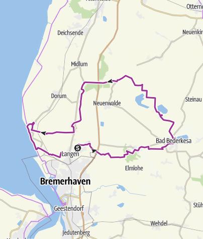 Karte / Geestland-Route